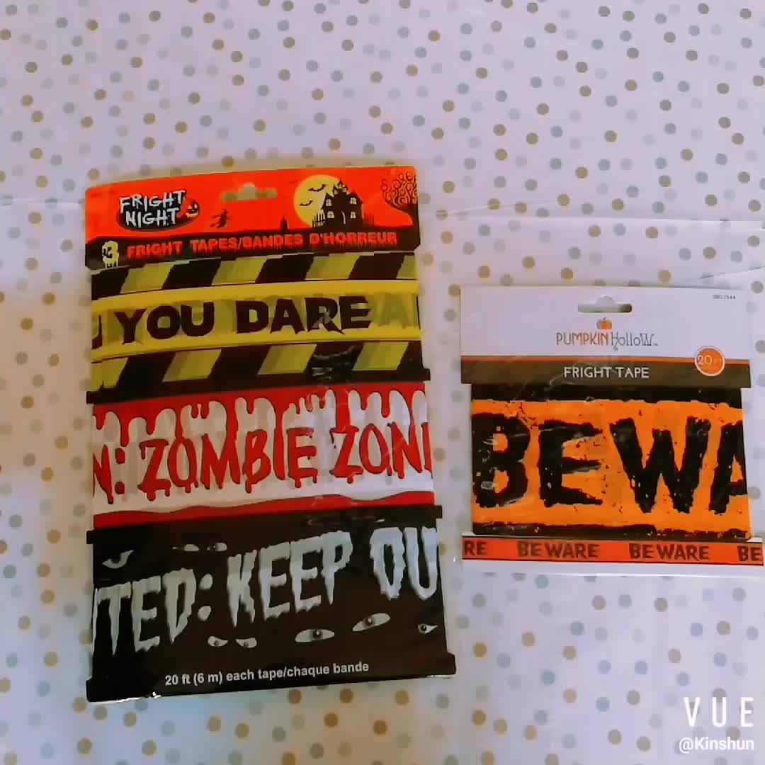 DANGER CAUTION  Party Warning Tape Decoration Haunted House Halloween 2 x 6m