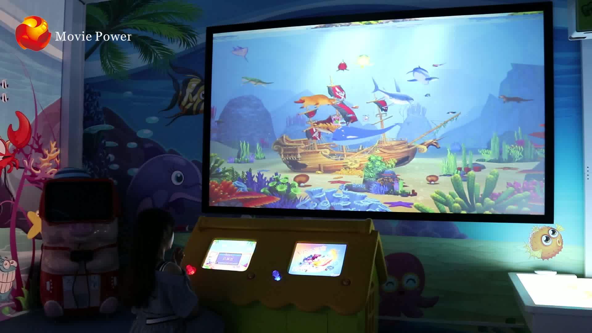 เกมสติกเกอร์ติดผนังโลกแห่งเวทมนตร์ทางปัญญาสำหรับเด็ก / เด็ก ๆ เกมหยอดเหรียญ vr kidscoin