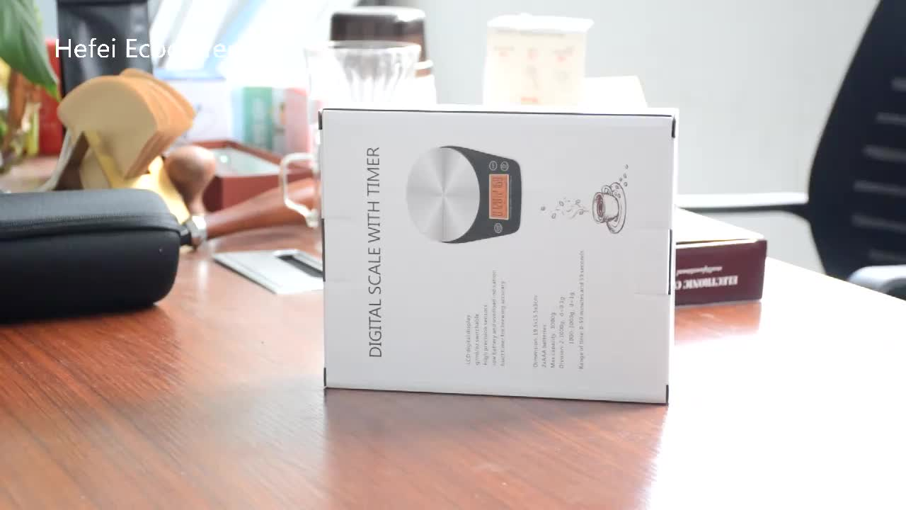Hot Selling Coffee Scale With Timer 0.1 -3000 g Kitchen Weighing Scales V60  Coffee Accessories Coffee maker