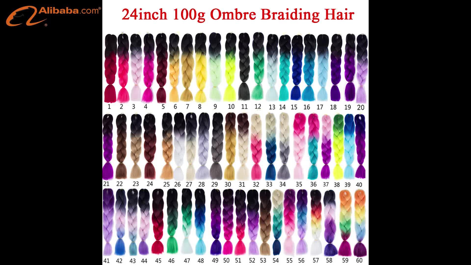 24 inch mixed farbe Private Label Synthetische groß Häkeln flechten haar für anbieter afrika haar flechten Groß