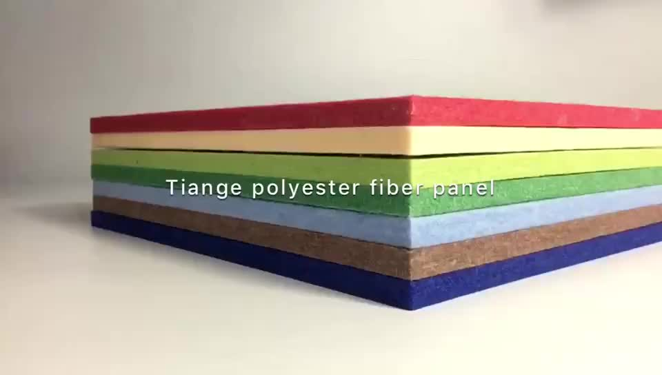 TianGe Factory CE/SGS/BV High Density Acoustic Foam Sound Absorption Material Polyester Fiber Pet Acoustic Panels