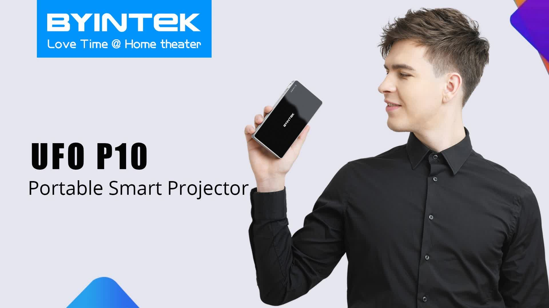 BYINTEK UFO P10  Android 7.1.2 WIFI Mini Portable Projector For Iphone 11