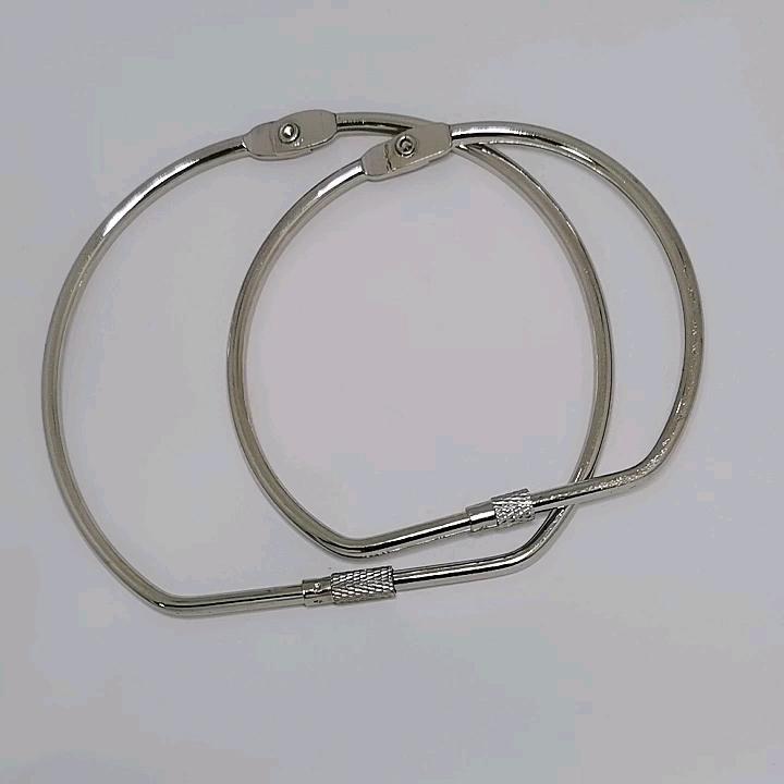 Fabricage 3 inch Schroef Bindmiddel Ring, Metalen Schroef Lock Ring Voor Koop