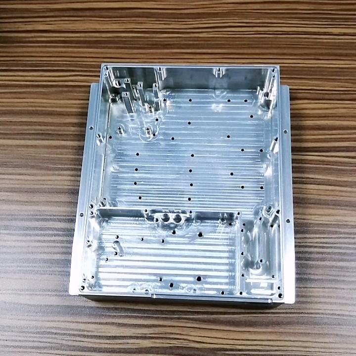 De aluminio personalizado amplificador de caso control carcasa cnc negro carcasa de aluminio