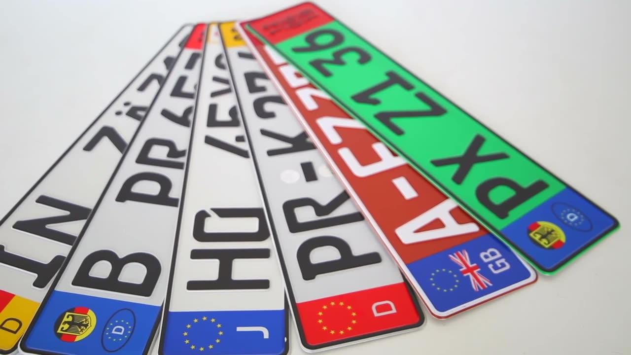 Overheid voertuig auto licentie/nummerplaat