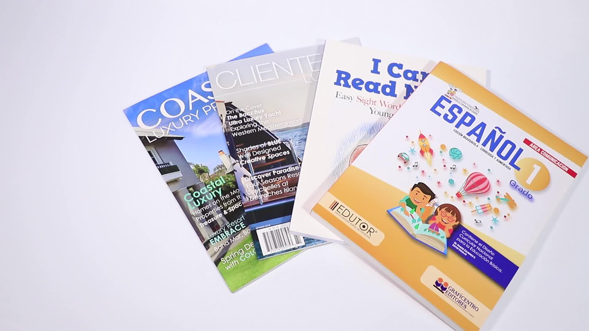 Printing Softcover Book Offset Magazine Catalog Custom Book Printing Company