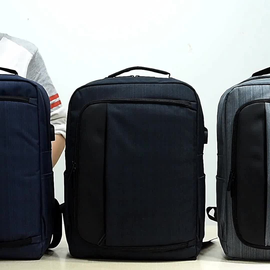 Comfortable College bags nylon Business Computer backpack Smart USB charging laptop back pack bag