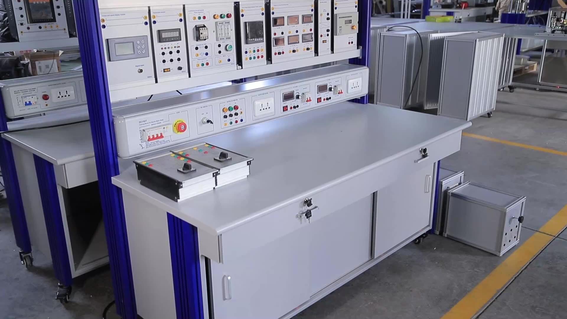 PLC Trainer Kit with simulators Electrical Educational Equipment Classroom Training Set