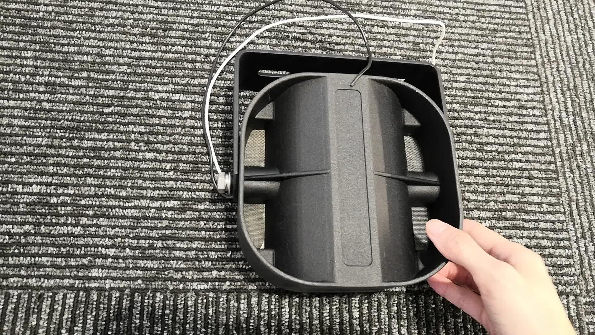 धातु सींग कवर कार एम्पलीफायर ऑडियो स्पीकर मोहिनी सींग