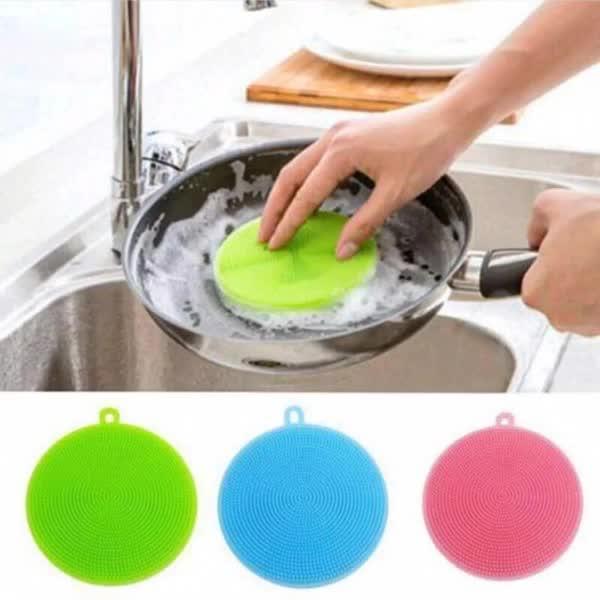 Soft Flexible Silicone Dish Washing Brush Scrubber Cleaning Brush Sponge