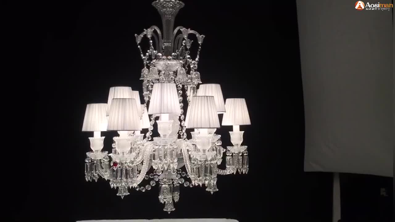 Baccarat Style Lustre Crystal Candle Chandelier Lights for Home