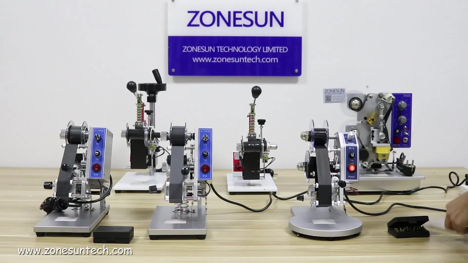 ZONESUN Words and date printer/Manual Hot Stamping Date Coding Machine