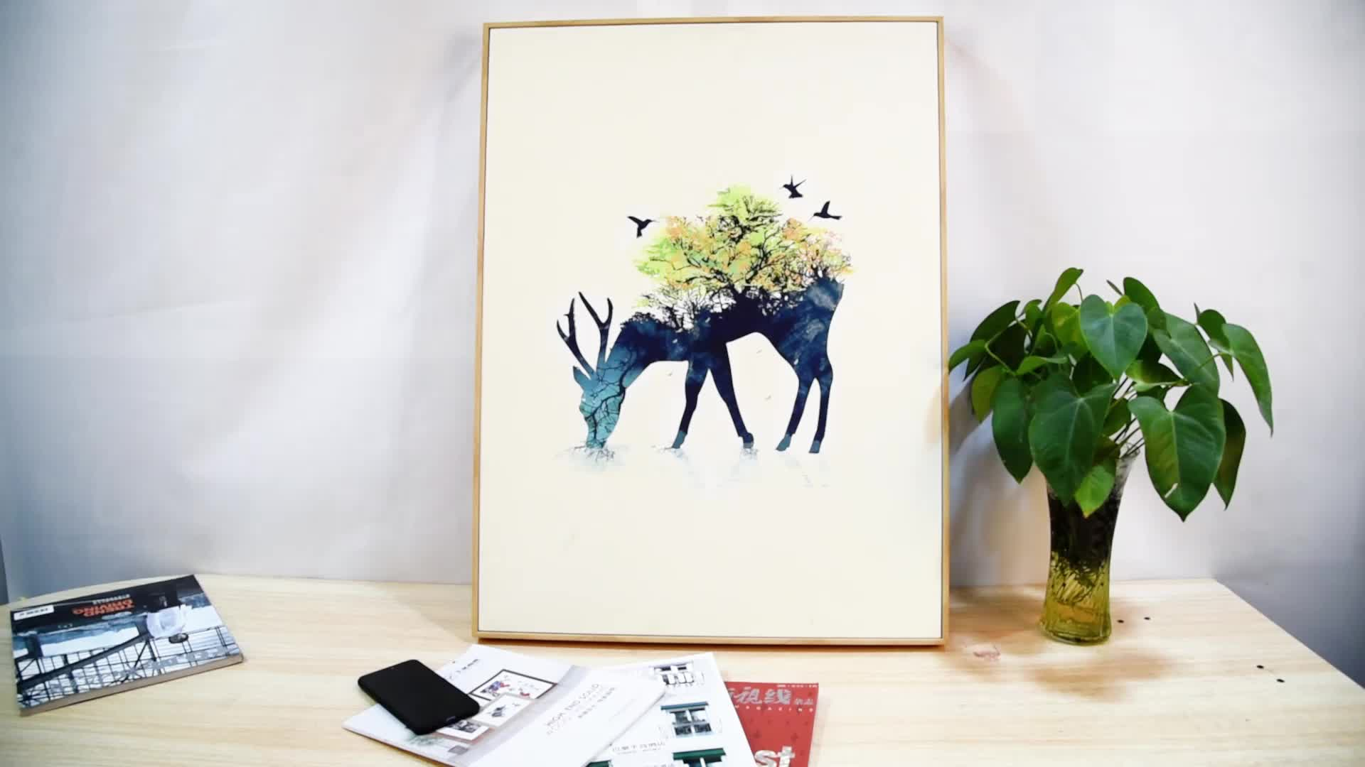 Shenzhen Tree Picture No Frame Canvas Printing Drop Shipping