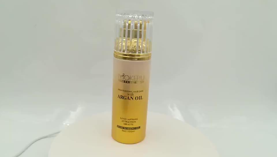 Olio di Argan 100% vitamina e cosmetici olio bio mokeru marca capelli olio di argan siero
