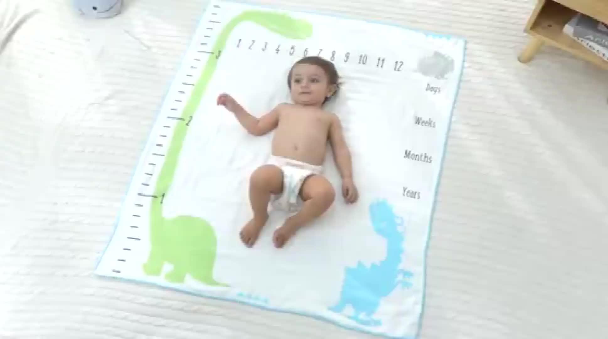 도매 새 Design 마일스톤 월 사용료없이 Bamboo 면 Baby 담요