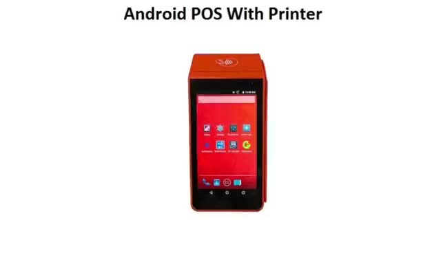 Cheap handheld pos terminals With 58mm Thermal Printer