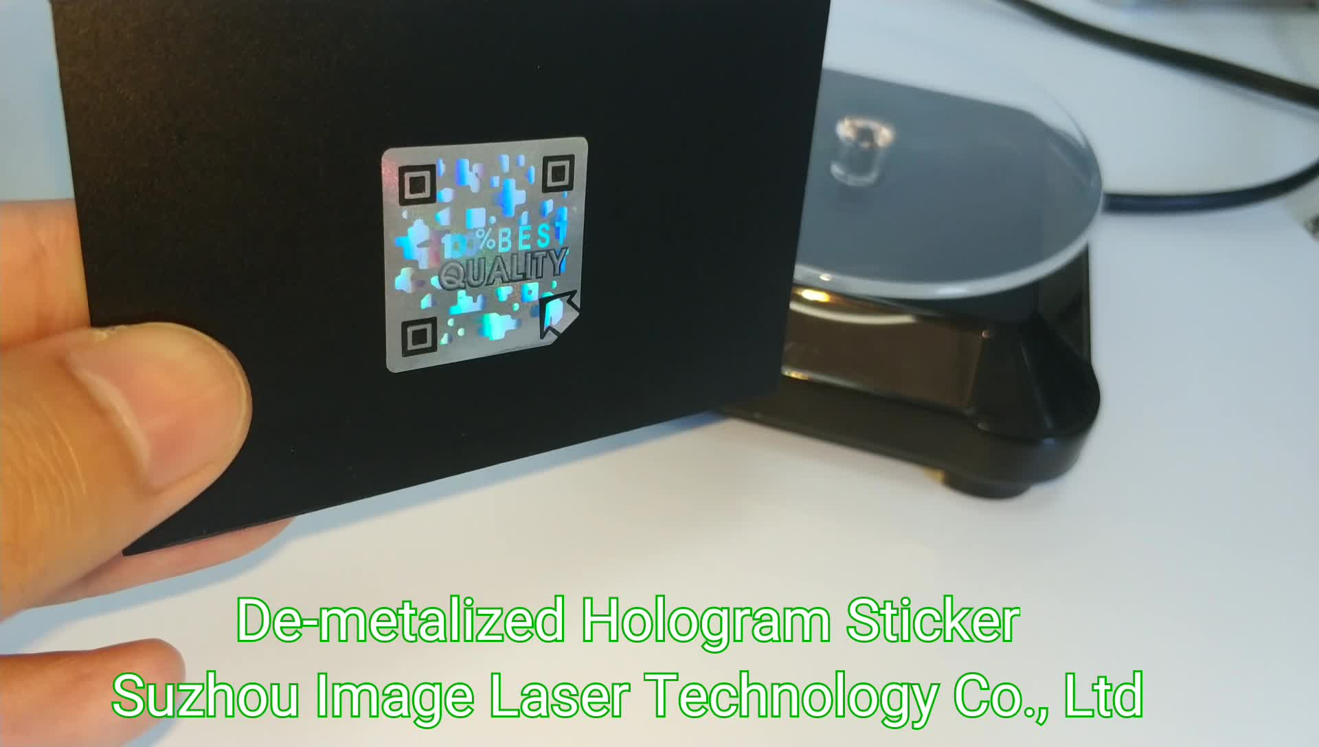 25mm Square De-metalized Hologram Sticker