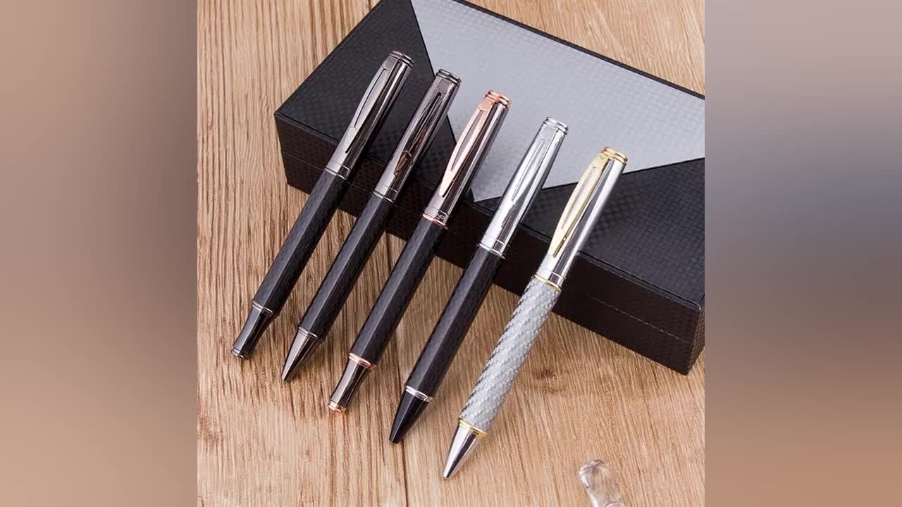 Smooth Writing Stationery Logo Brand Metal body heavy ballpoint pens