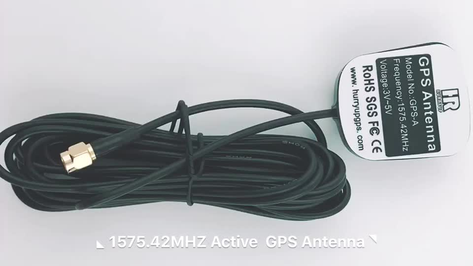 CE RoHS Approvals 28dbi 1575.42 Mhz Car Auto GPS Antenna with SMA Fakra Connector