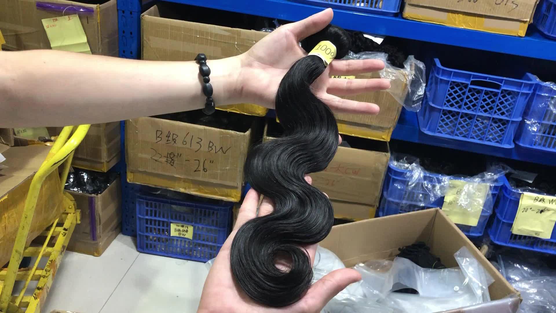 Alimina unverarbeitete brasilianische Haarwebart, oberes Häutchen ausgerichtetes reines Remy-Haar, langlebiges 10a-Jungfrau-Haar