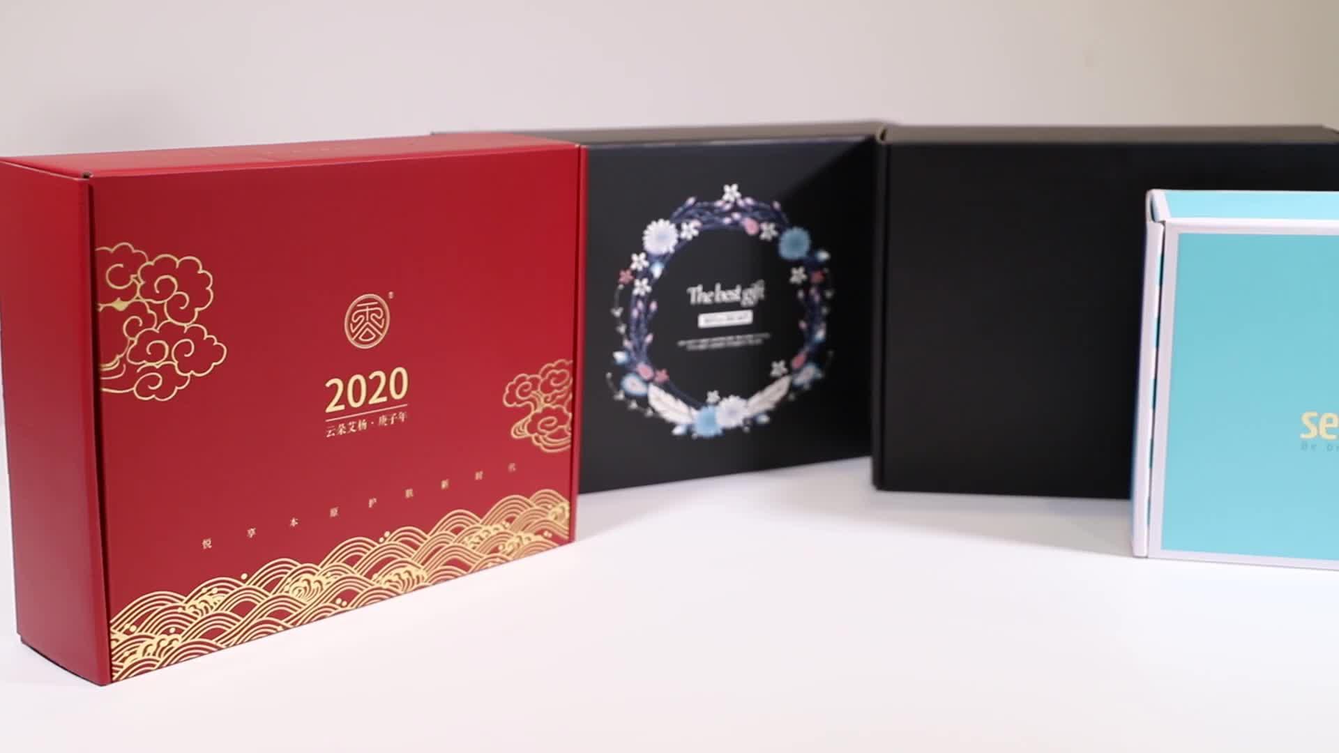 कस्टम लक्जरी गत्ता कागज परिधान कपड़े परिधान उपहार पैकेजिंग बॉक्स