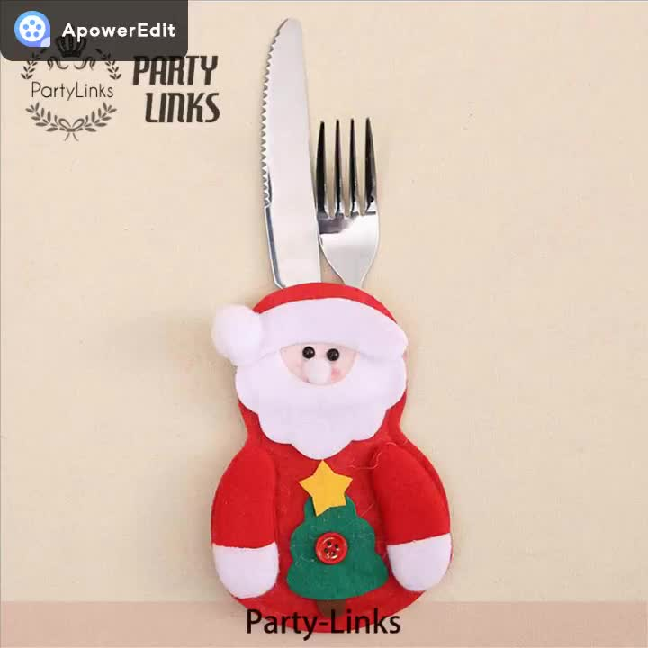 Yiwu Christmas Small Clothes Pants Cutlery Case Tableware Cover Table Decoration