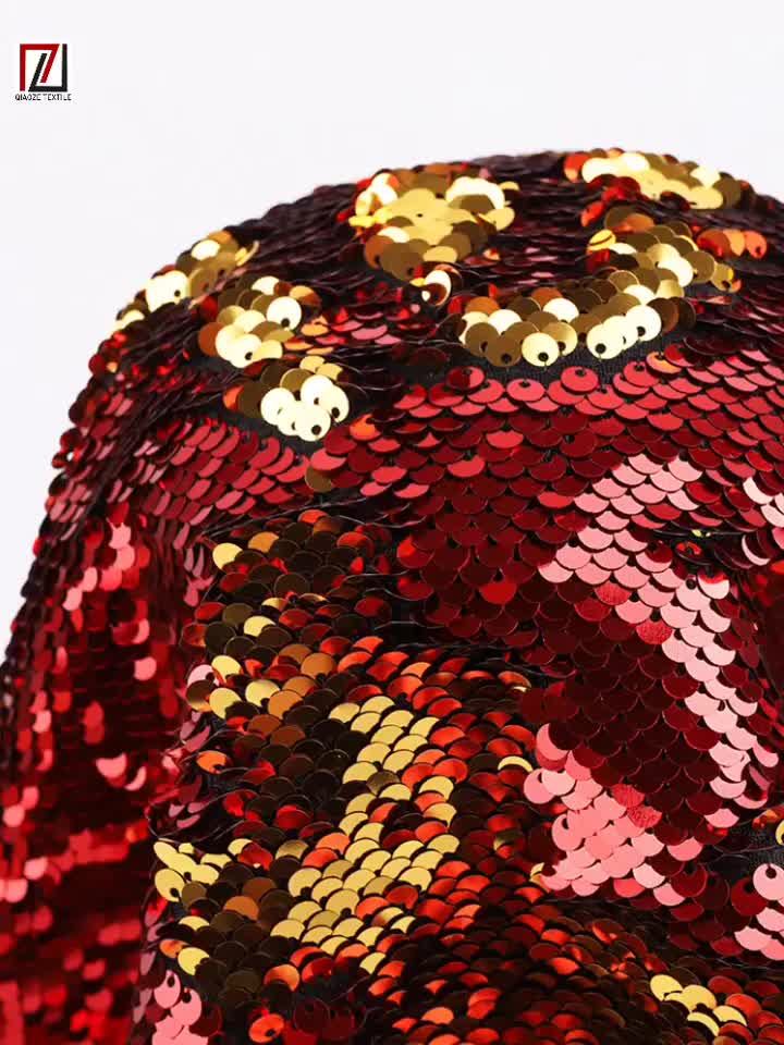 Горячее предложение! Роскошное платье золотого и красного цвета, 2 цвета, двухцветная сатиновая сетка, кружевное платье из тюля, 5 мм, двусторонняя ткань с блестками