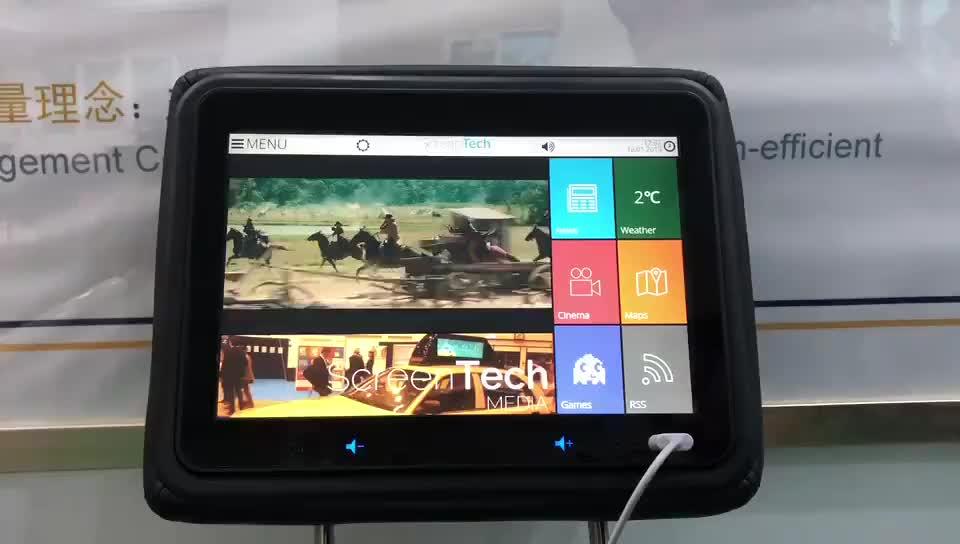 10.1 inch taxi headrest advertising taxi headrest advertising android player taxi backseat advertising