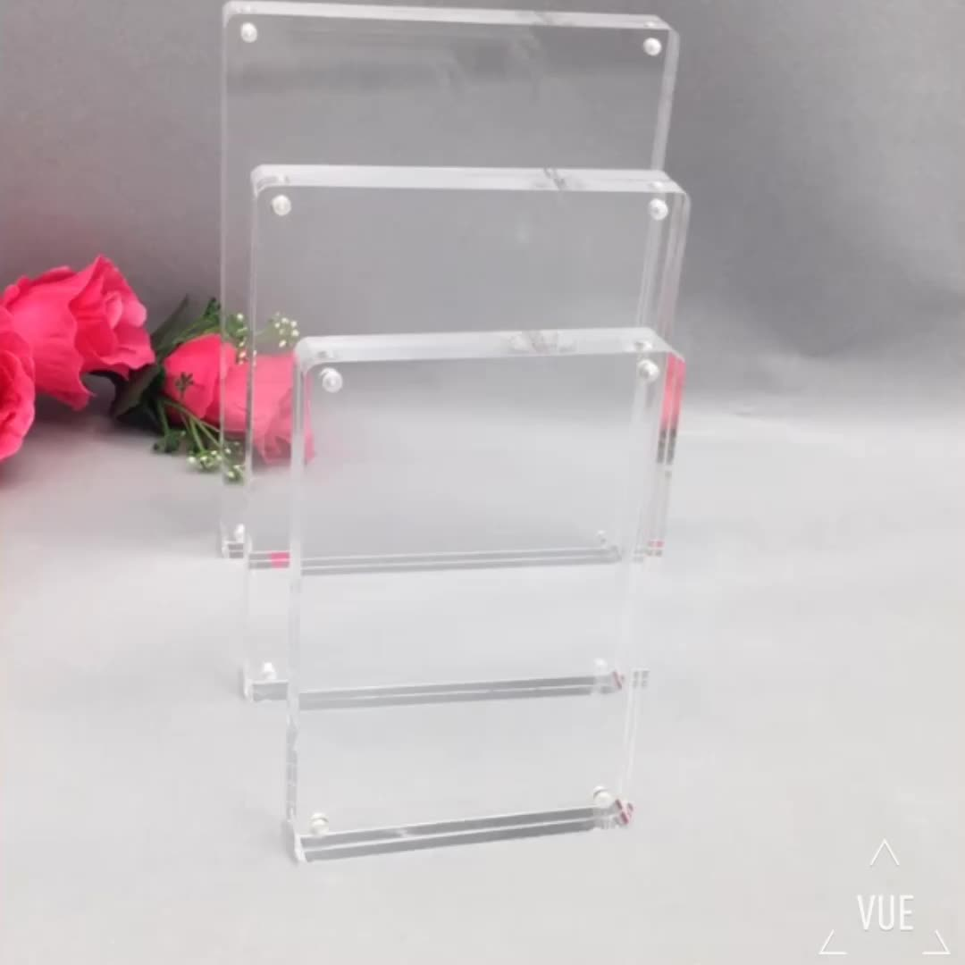 Wholesale Clear Acrylic Magnetic Photo Frame Block