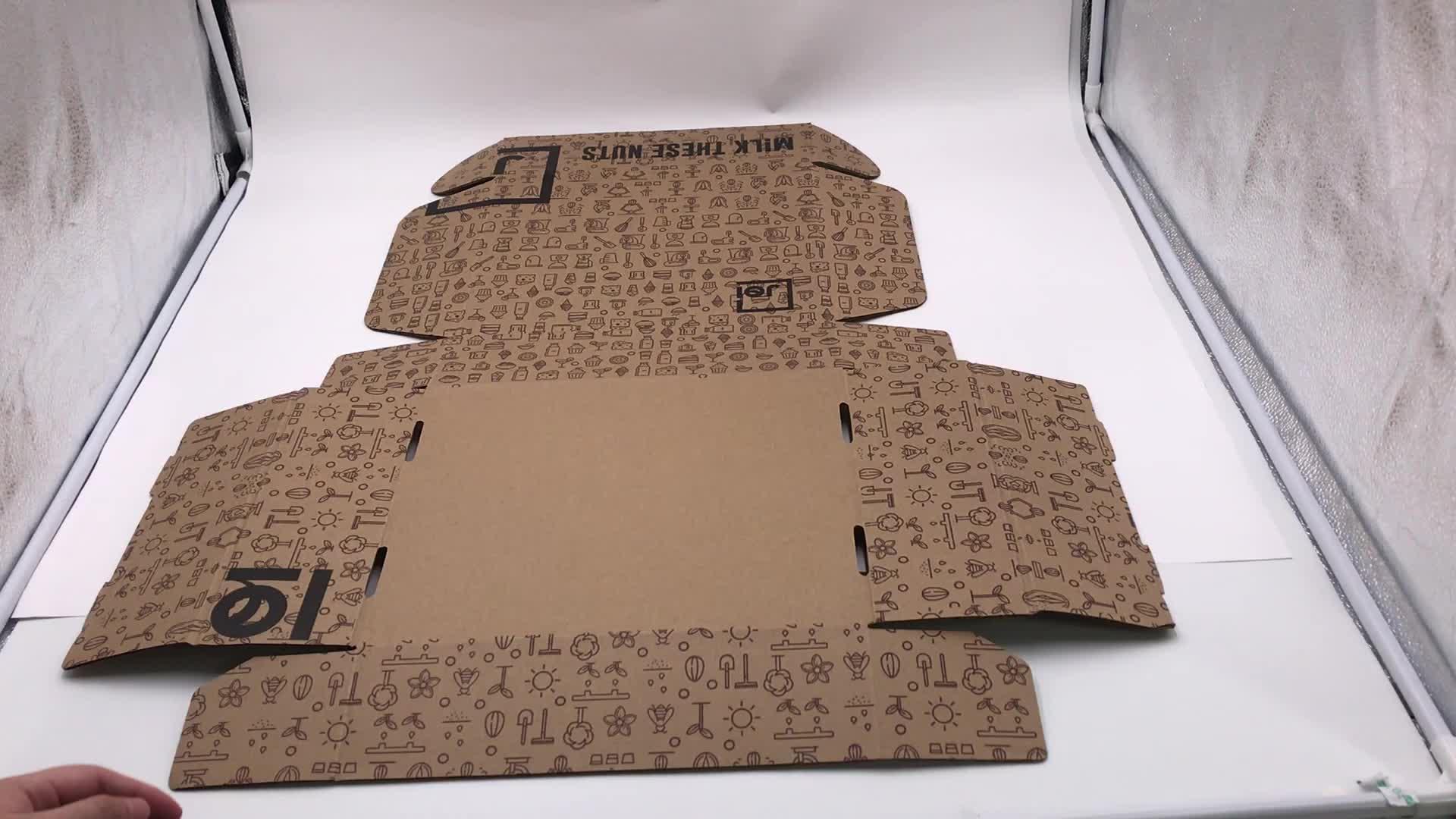 अमेज़न ई वाणिज्य पर्यावरण के अनुकूल ई-बांसुरी नालीदार गत्ता बॉक्स कस्टम पैकेजिंग पुनर्नवीनीकरण बॉक्स तह मेलर शिपिंग बॉक्स