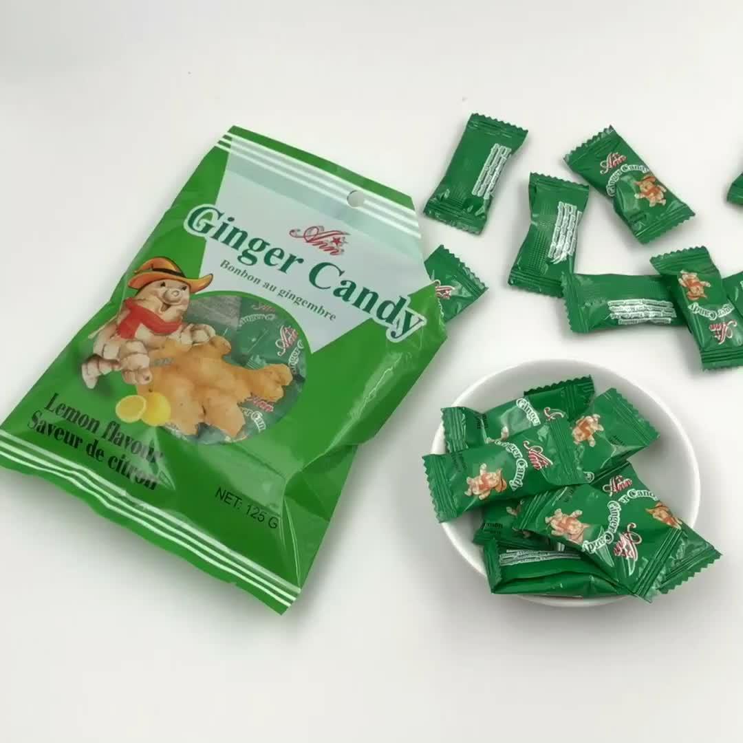 Hot sale ginger sugar sweet  lemon flavour hard candies