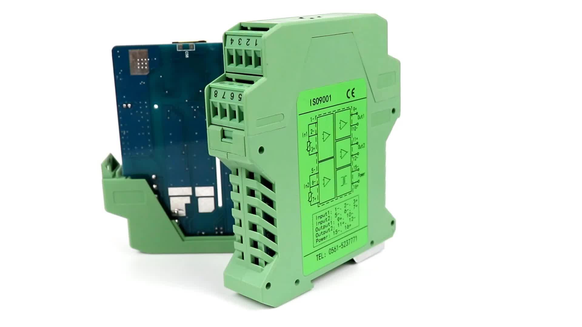Tc résistance thermique isolateur de signal RDT pt100 température isolateur avec 4-20ma sortie