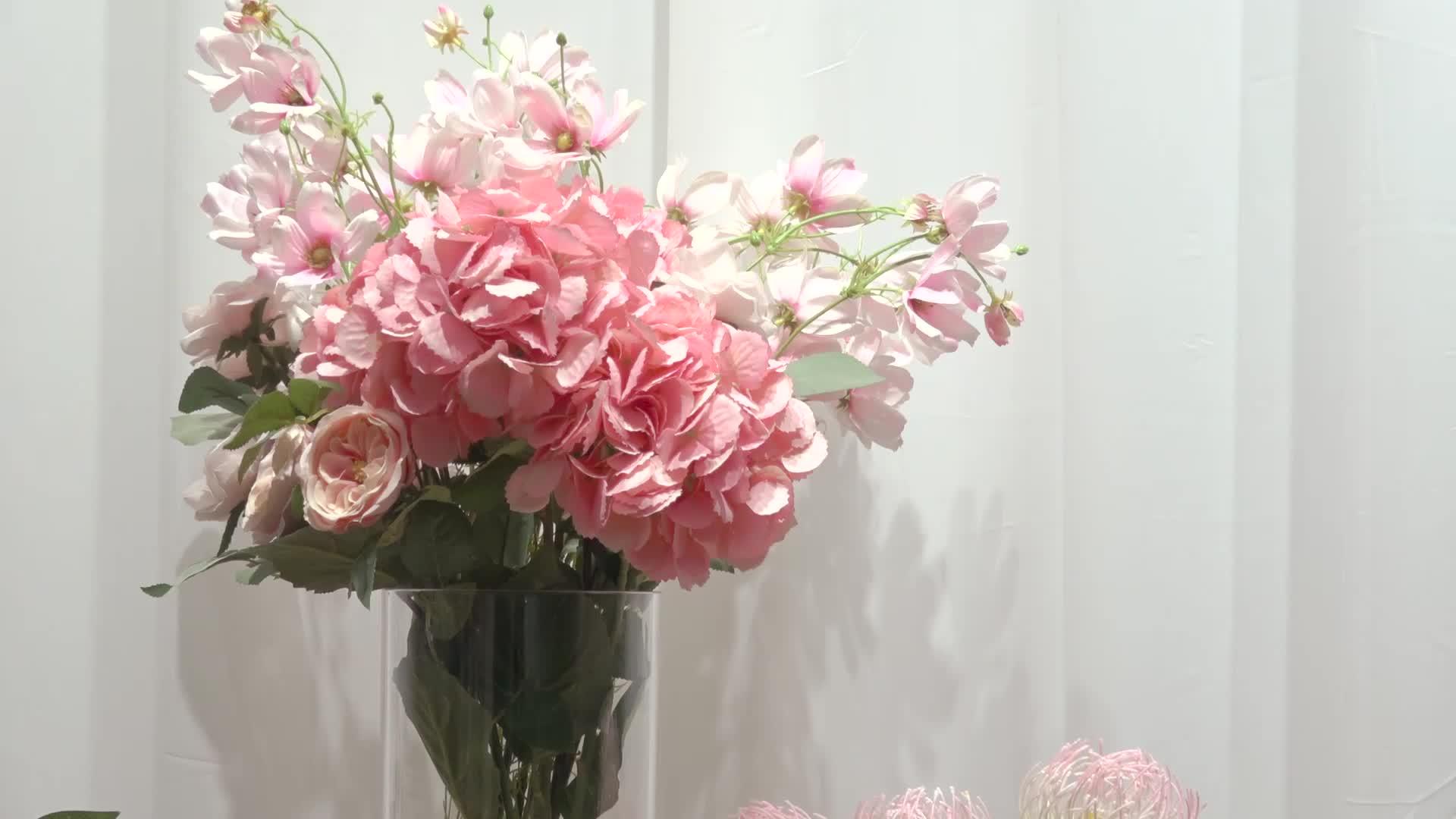 VR150-200 tall wedding modern small round glass flower vase decoration mariage