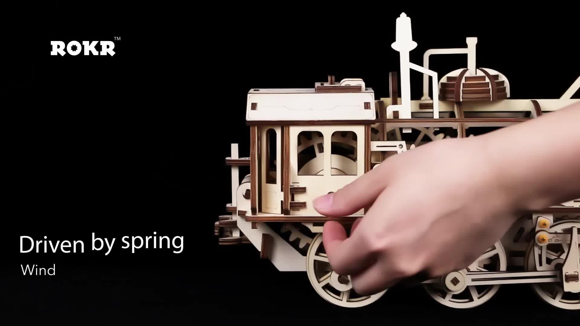 Mechanical เด็กการศึกษาของเล่นไม้ Handmade Craft