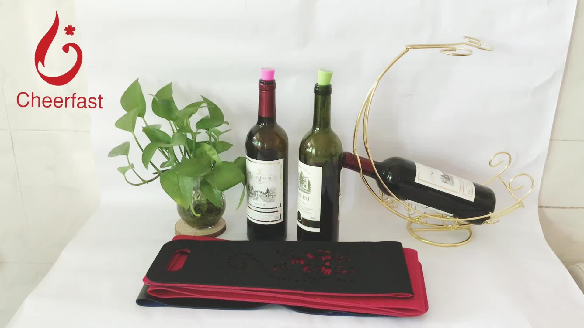Tamanho portátil E Dobrável Fácil Carry Viagem Sacola de Pano Sentiu Saco Do Vinho