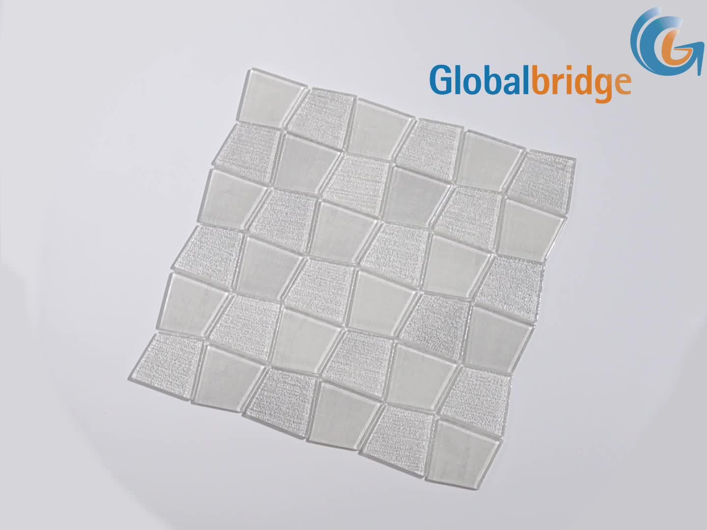 Washed Denim mosaic glass tile decorative wall tiles natural crystal glass wall decor