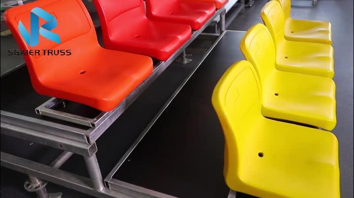 Aluminium stadion tribünen, kunststoff sitz tribünen mit aluminium stand