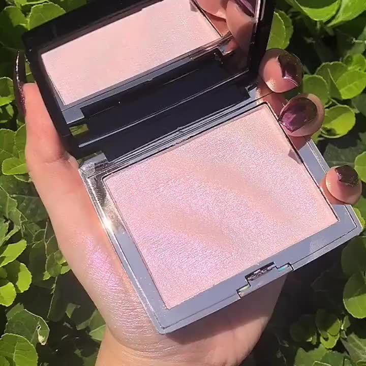 Private Label Glitter Holographic Highlighter Makeup Shimmer Bronzer Highlight Eyeshadow Face Bod Cosmetics Illuminator