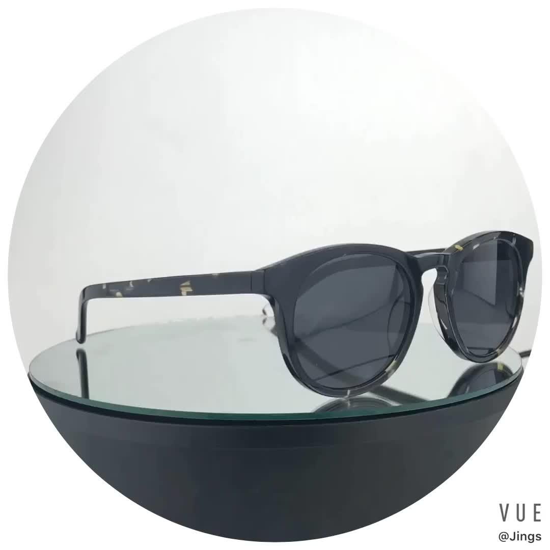 Fait main de haute qualité personnalisé lunettes de soleil en acétate abat-jour rond pour hommes femmes lunettes de soleil polarisées