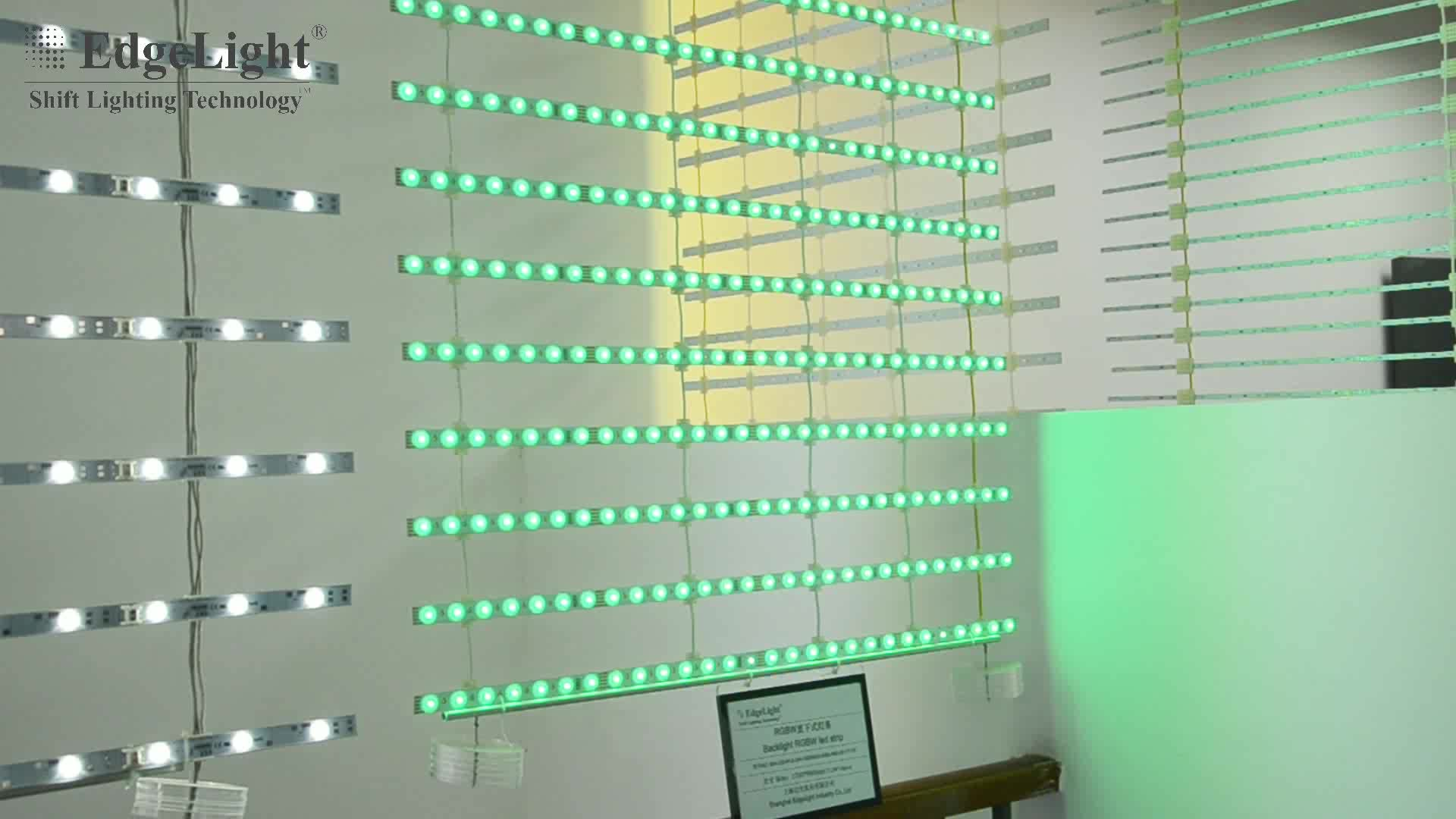 Edgelight high power led backlight strip , 24V led aluminum profile ,led strip lens CE ROHS backlight led strip
