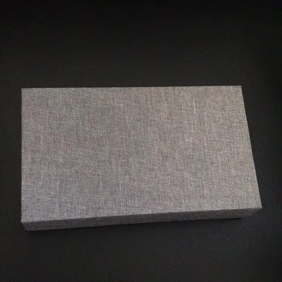 異なるサイズ磁気蓋閉鎖のウェディングリネン包装箱の usb