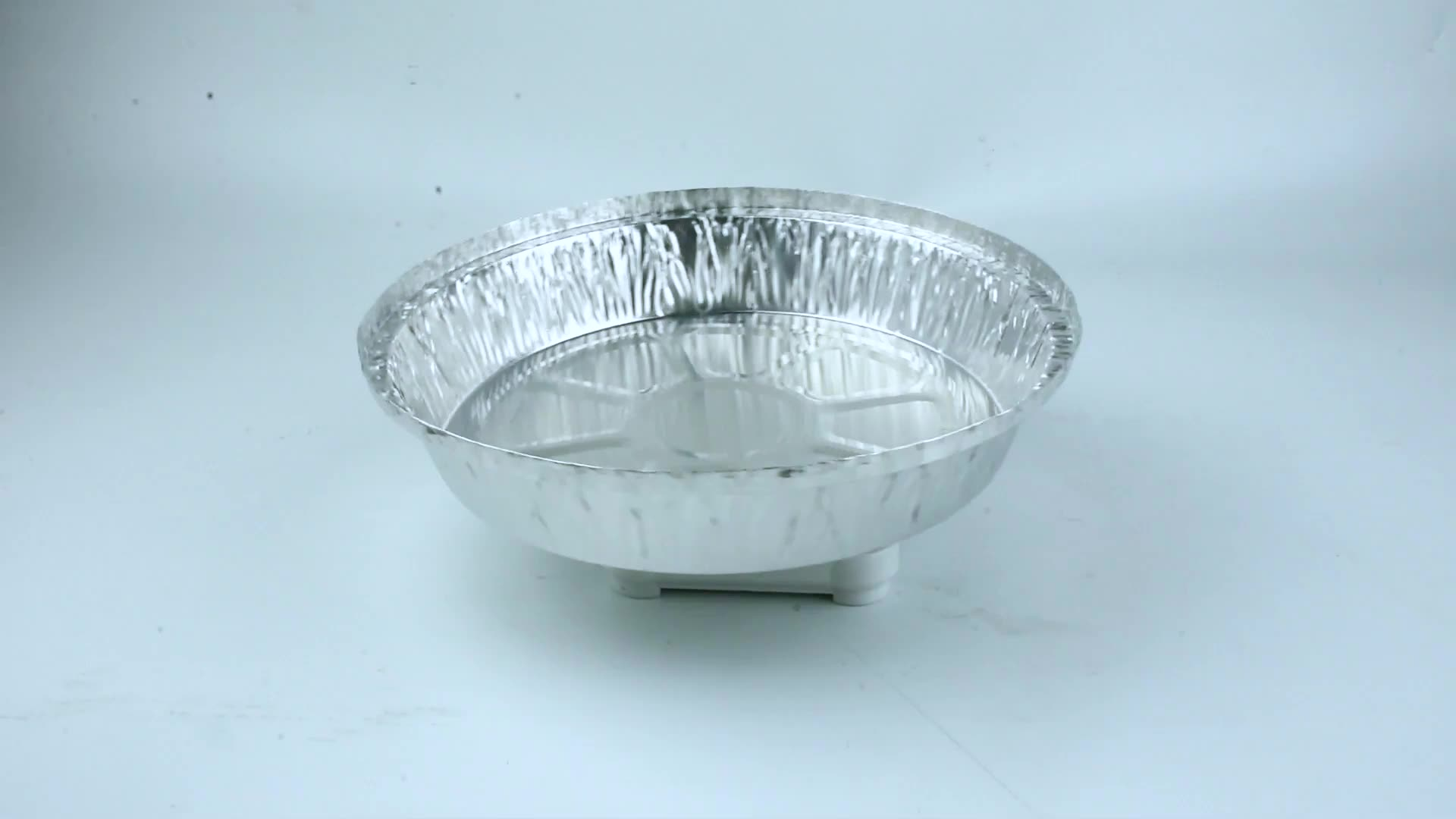 Disposable Food Tray Round Aluminum Foil Pizza Pan 1300ml Aluminum Foil Food Container