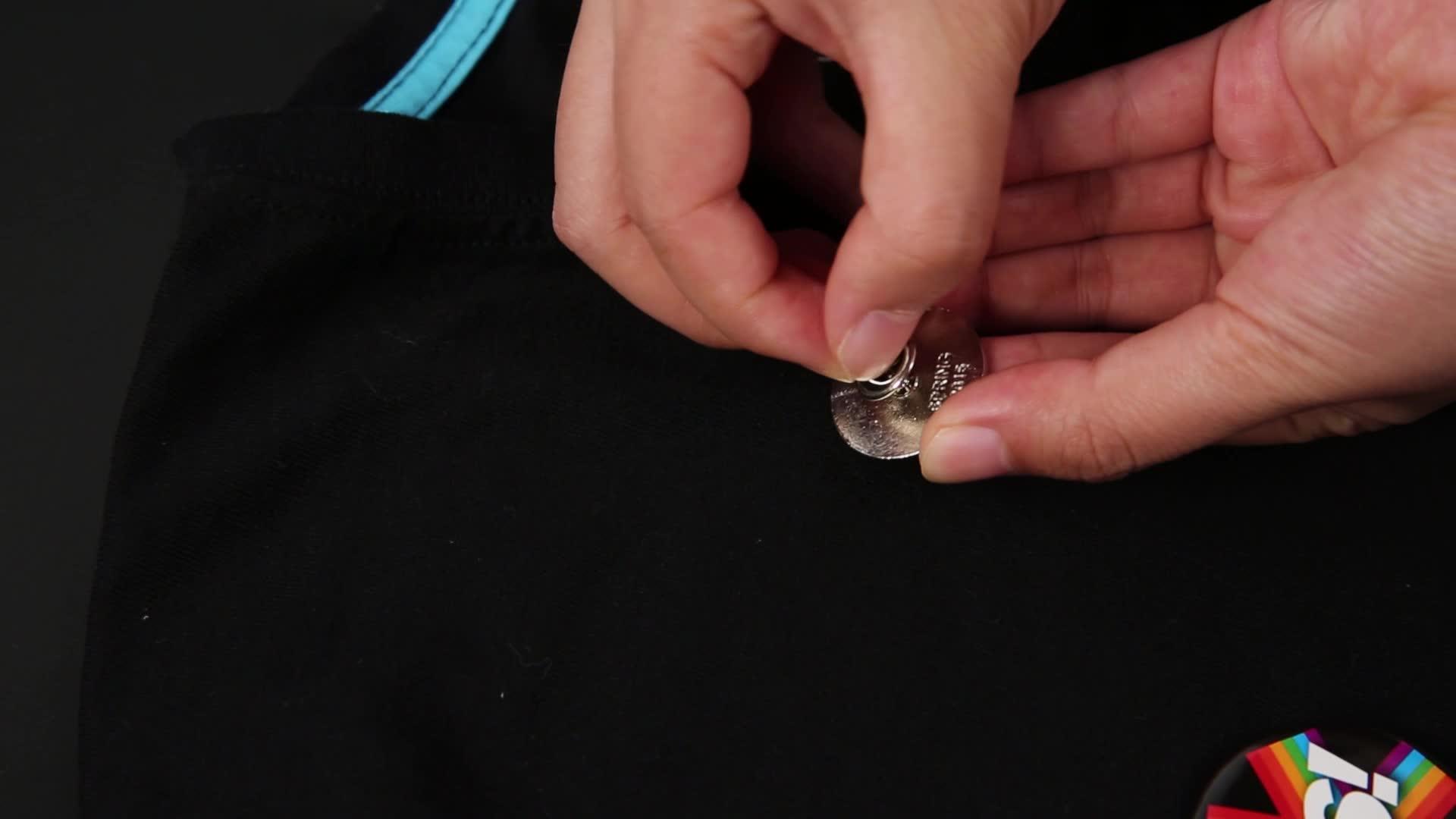 Exquisite geschenk Benutzerdefinierte runde sicherheit mode pin Taste Abzeichen