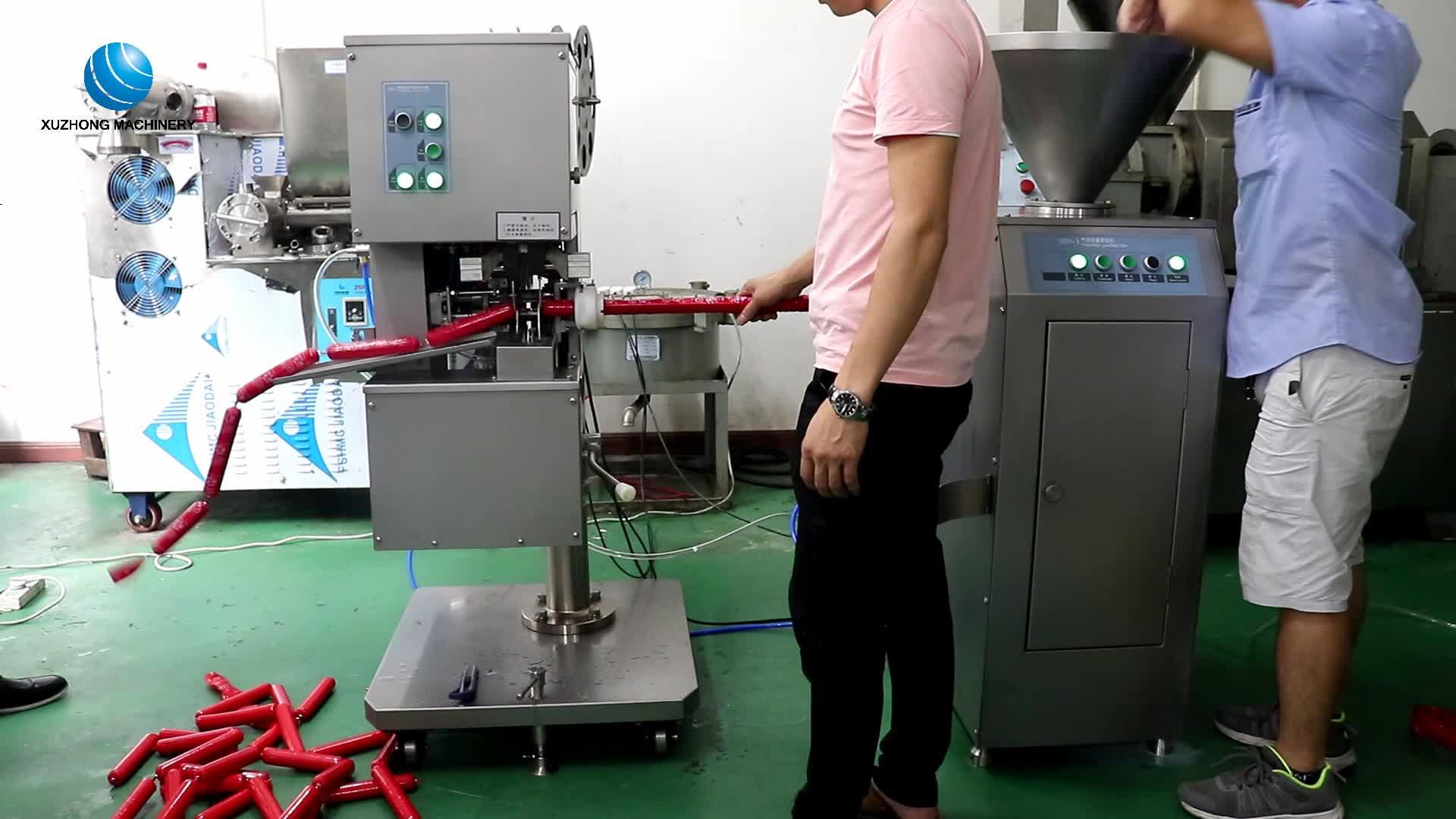 वाणिज्यिक सॉसेज भरने की मशीन एक कदम सॉसेज भरने के लिए लाइन