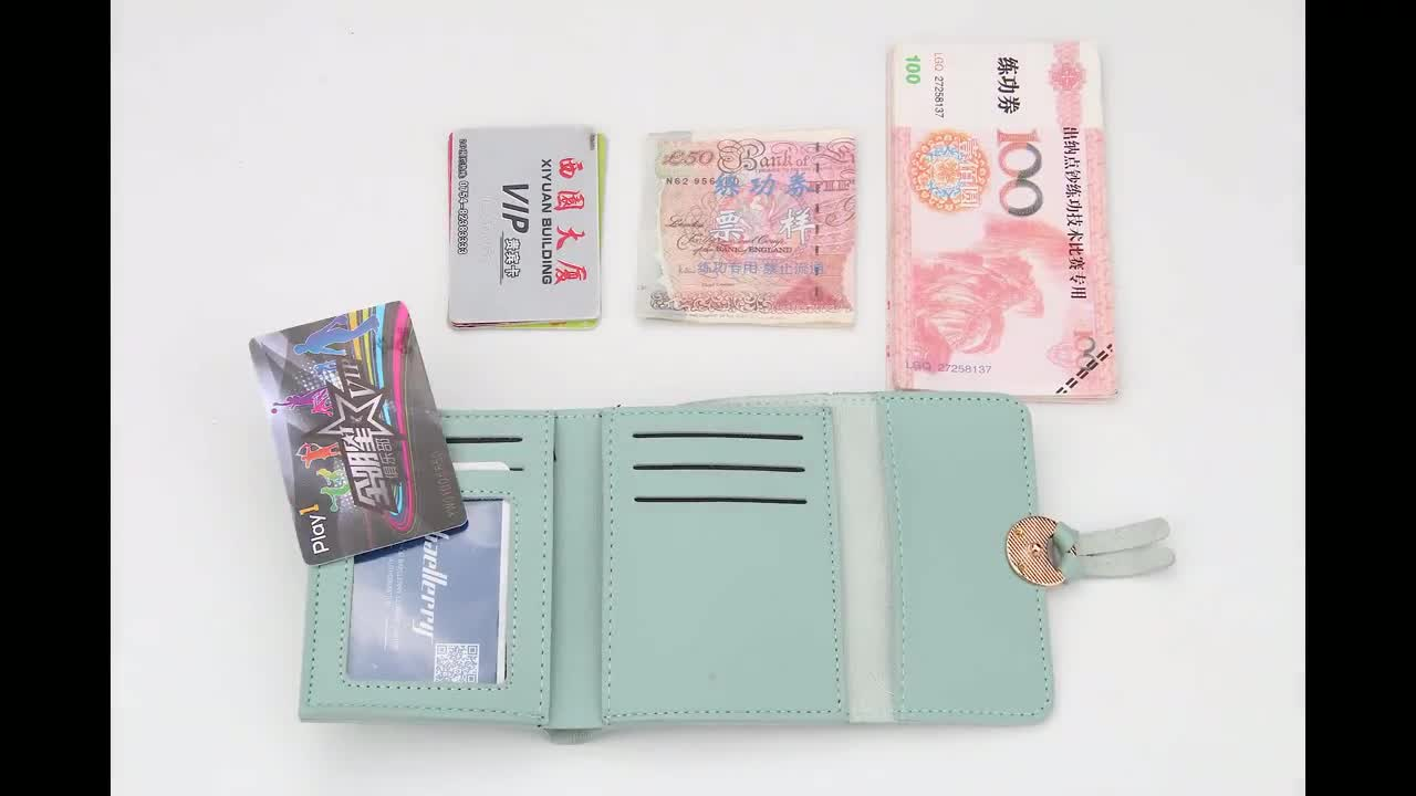 2018 new buckle 3 fold small Japan and South Korea design baellerry for women wallet