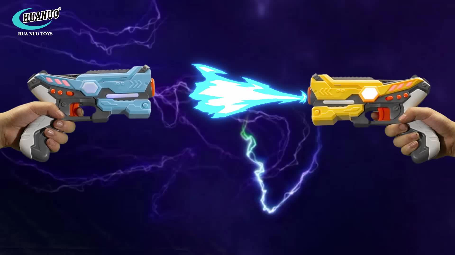 الأمازون 4 لاعبين لعبة اطلاق النار بندقية كهربائية مجموعة سترات ليزر أشعة تحت الحمراء tag مسدس لعبة