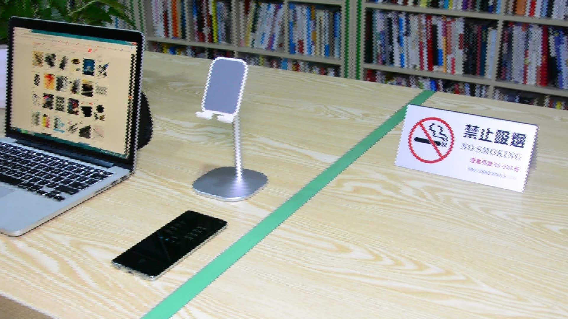 데스크탑 휴대 전화 홀더 스탠드 아이폰 셀 범용 조절 금속 책상 타블렛 홀더 iPad Pro