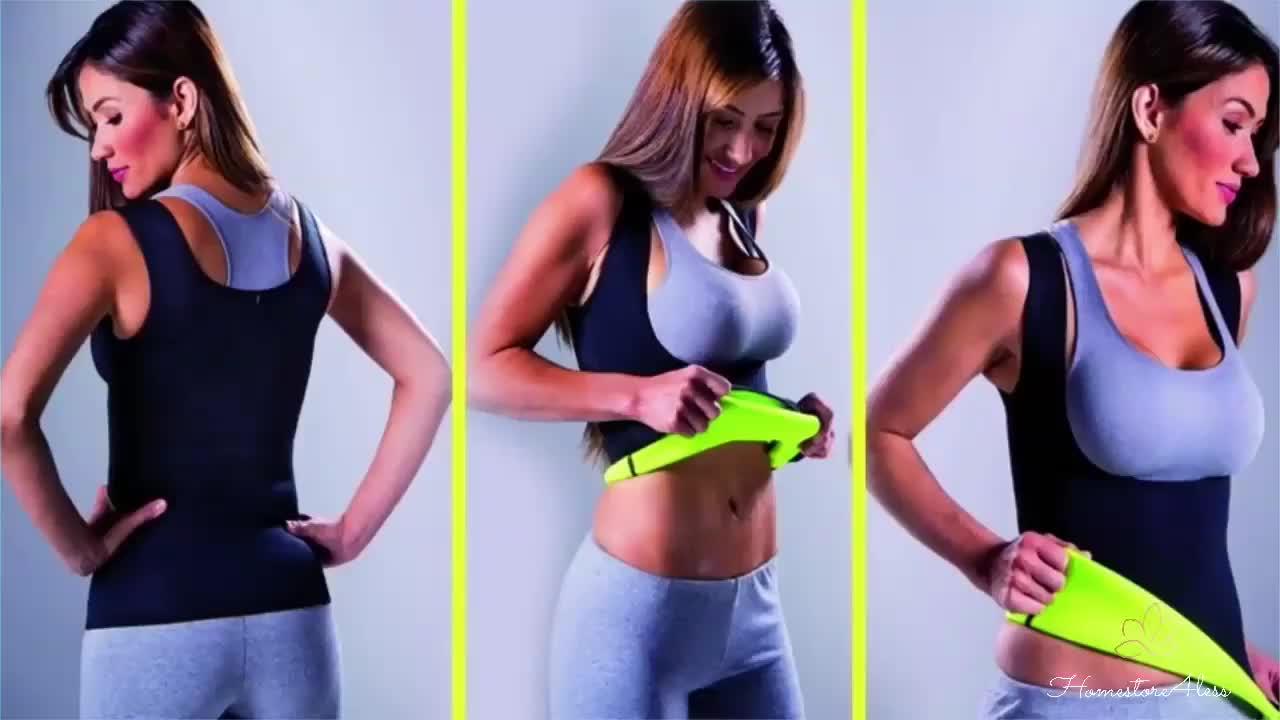 customer logo printing sweat neoprene shapewear body shaper slimming sauna vest for women