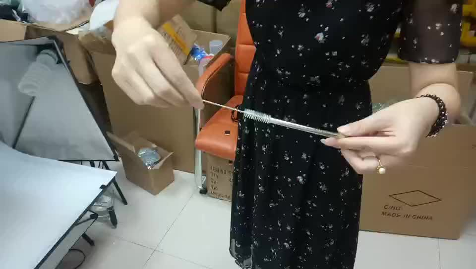 Stainless steel Drinking Straw and Cleaning Brush
