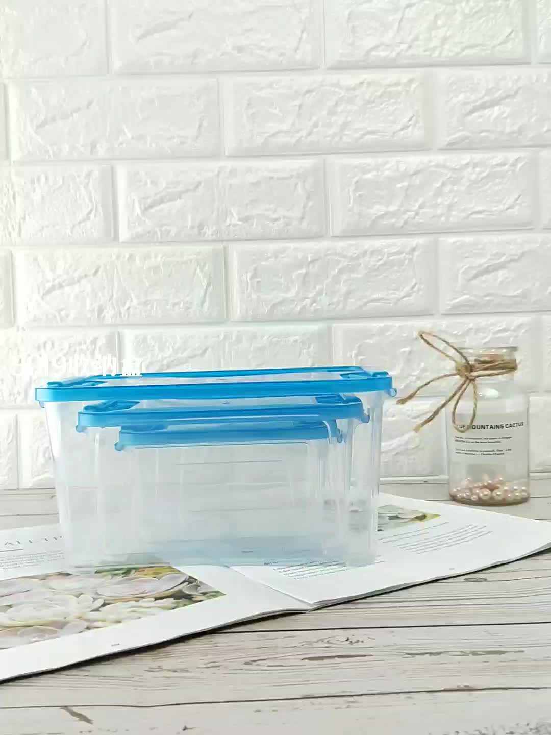 700/1500/2800 ml clear airtight storage box transparent plastic with lid